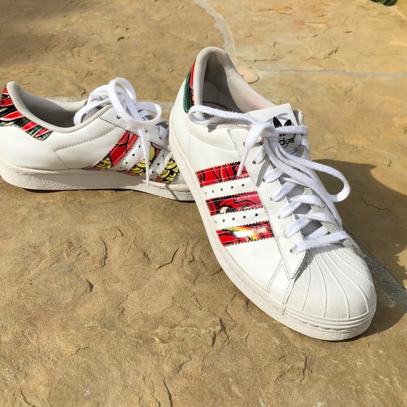 Adidas zapatos multicolor superestrellas poshmark